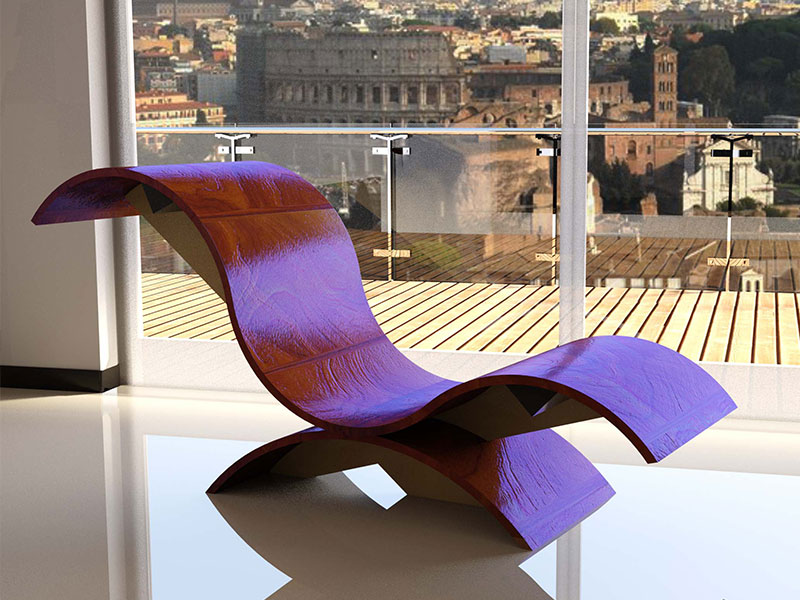 Chaise Longue by Simonetto Vellucci