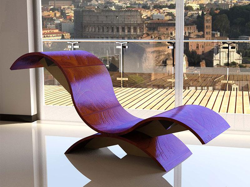 Chaise Longue by Simonetto Vellucci