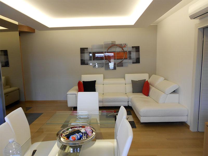 Salotto Living abitazione dopo i lavori Creazioni SV
