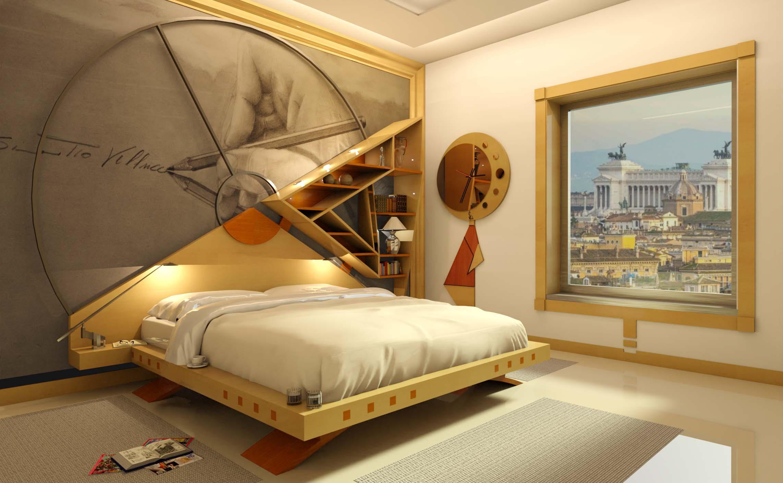 Camera da letto progettata con il metodo Feng–Shui